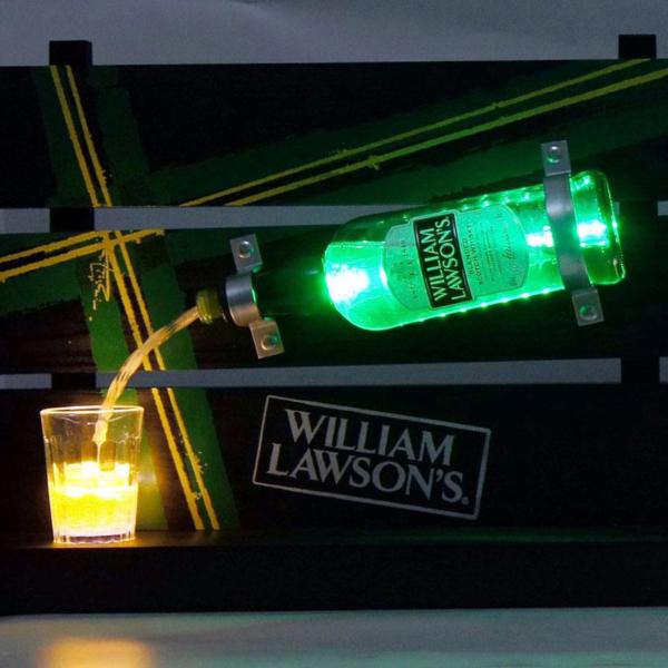 Wooden Display Bottle illuminated